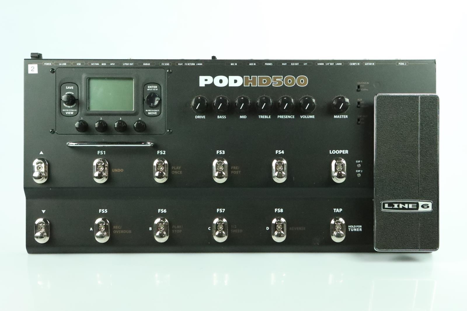 Line 6 Pod HD500 Multi Effects Processor w/ Gig Bag Owned by Carlos Rios #33936