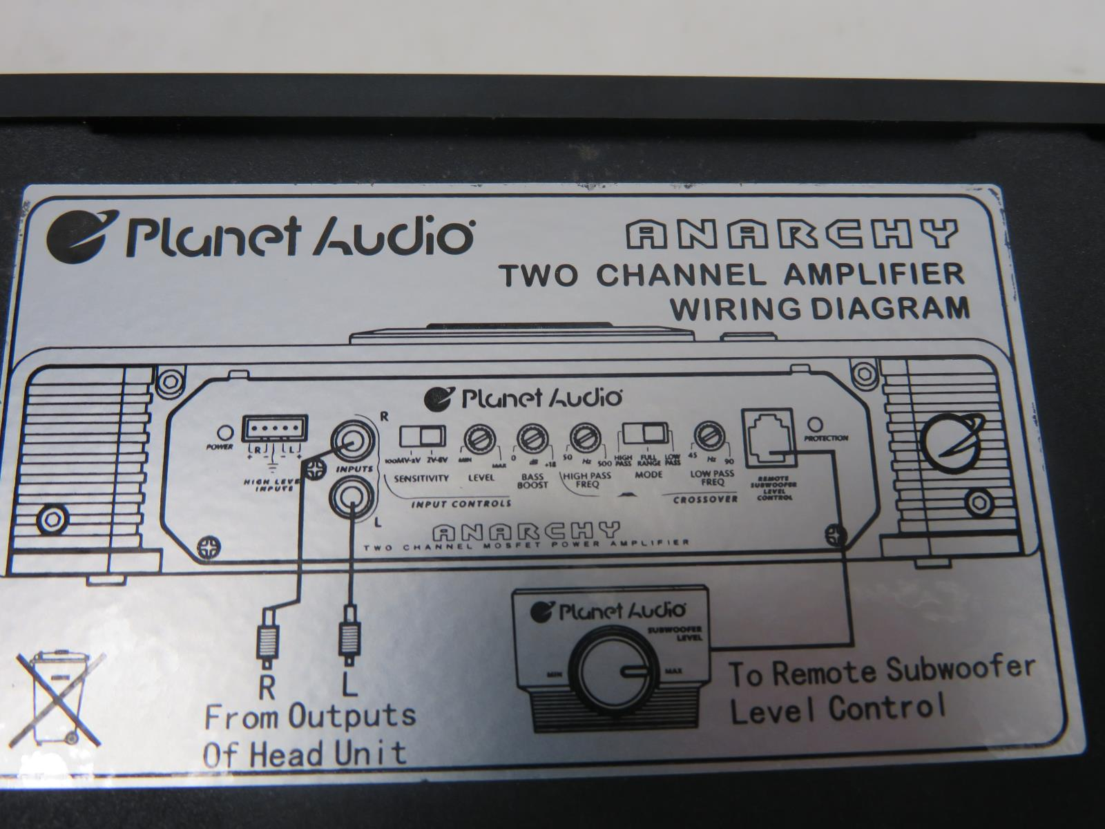 Planet Audio Ac12002 Anarchy 1200 Watt 2 Channel 4 Ohm Stable Wiring Rules Faq About Us Payment Shipping Return Contact