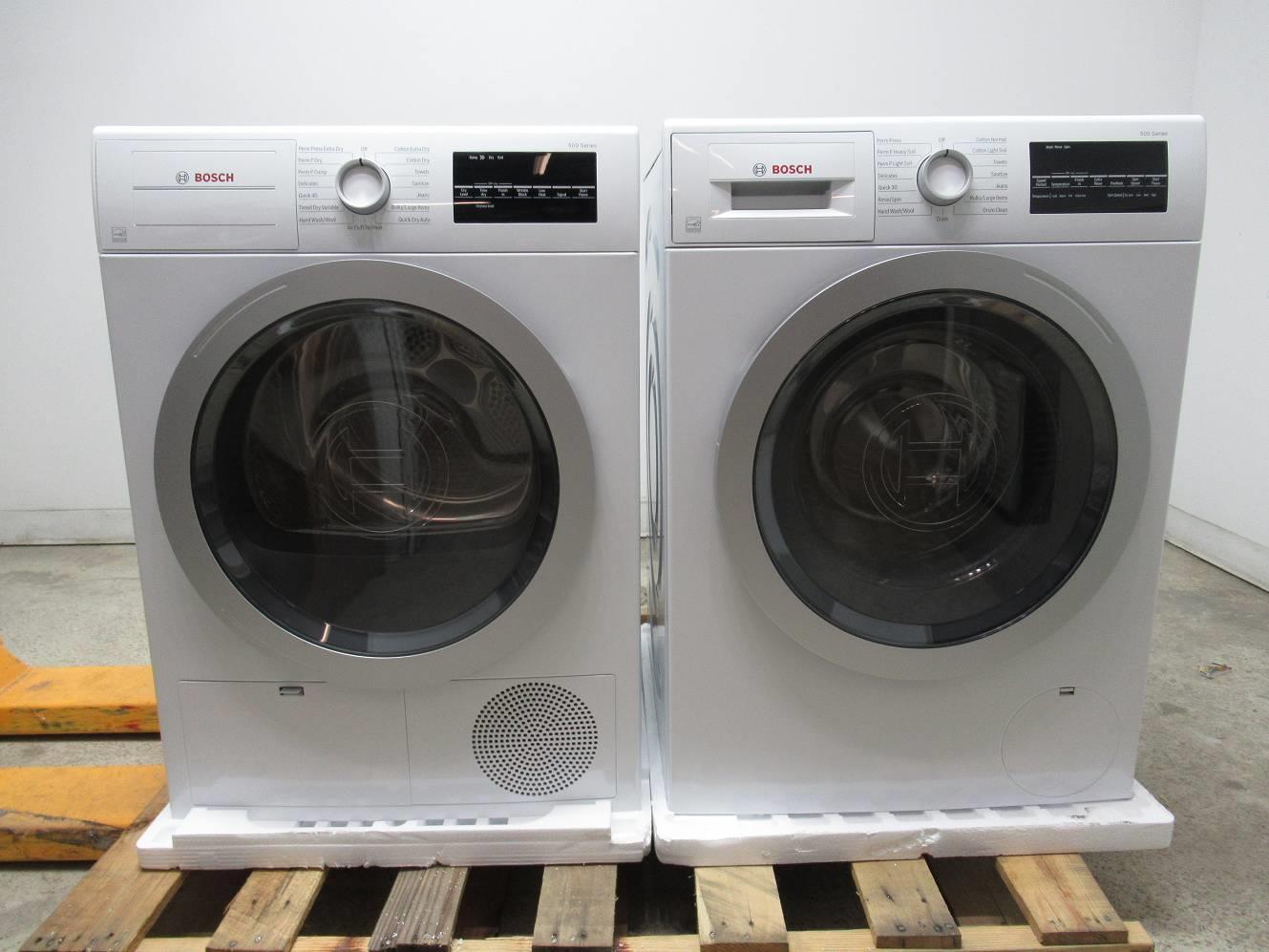 Bosch 500 Series Wht Front 15 Progams Washer Dryer Wat28401uc Wtg86401uc