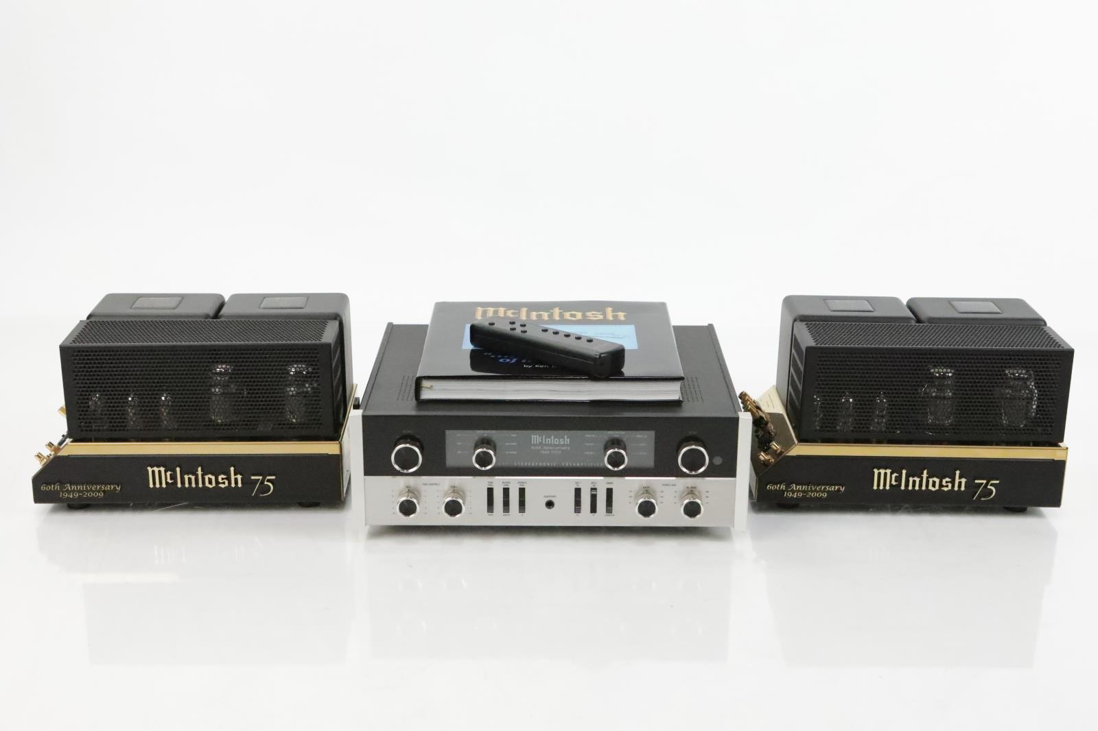 McIntosh C22 MC75 60th Anniversary Special Edition Amps System #33783