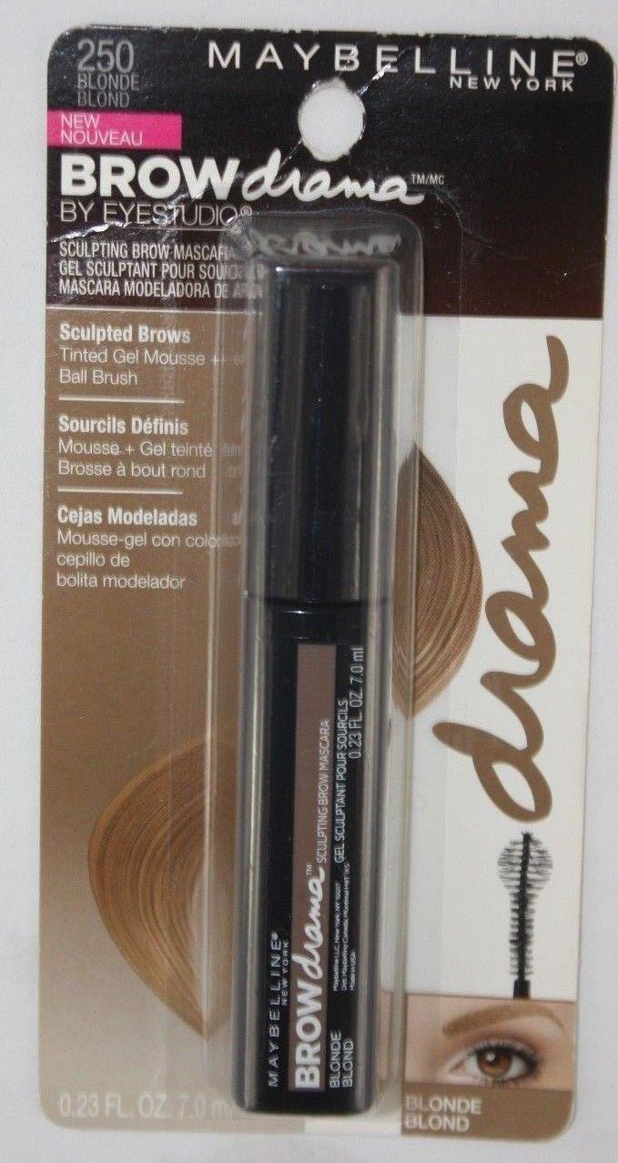 a1b4abd544d Details about Maybelline Brow Drama By Eyestudio Sculpting Brow Mascara 250  Blonde NEW