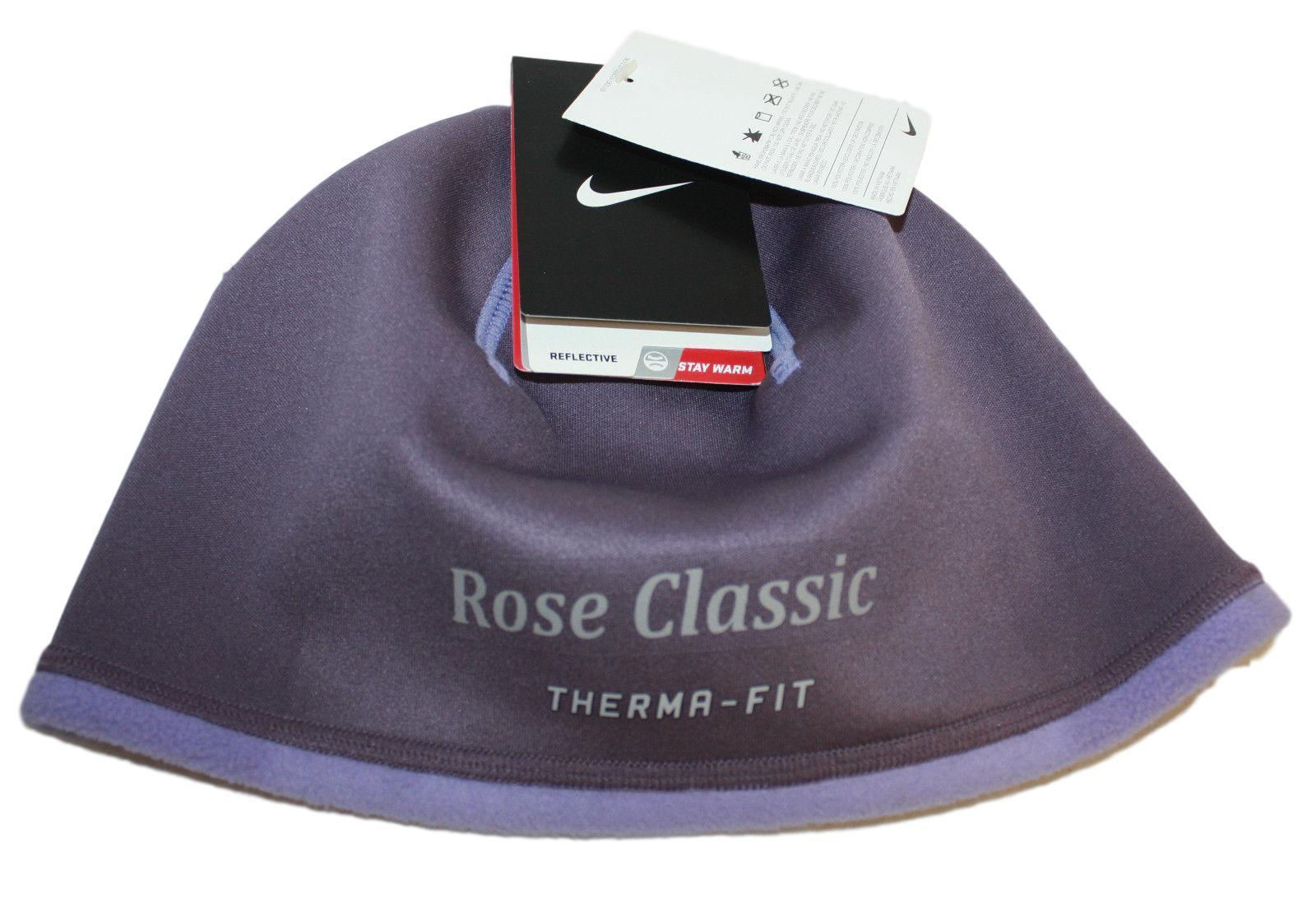 3e08889d1 Details about Women's Nike Rose Classic Ladies Therma-Fit NWT Purple  Running Beanie Cap Hat