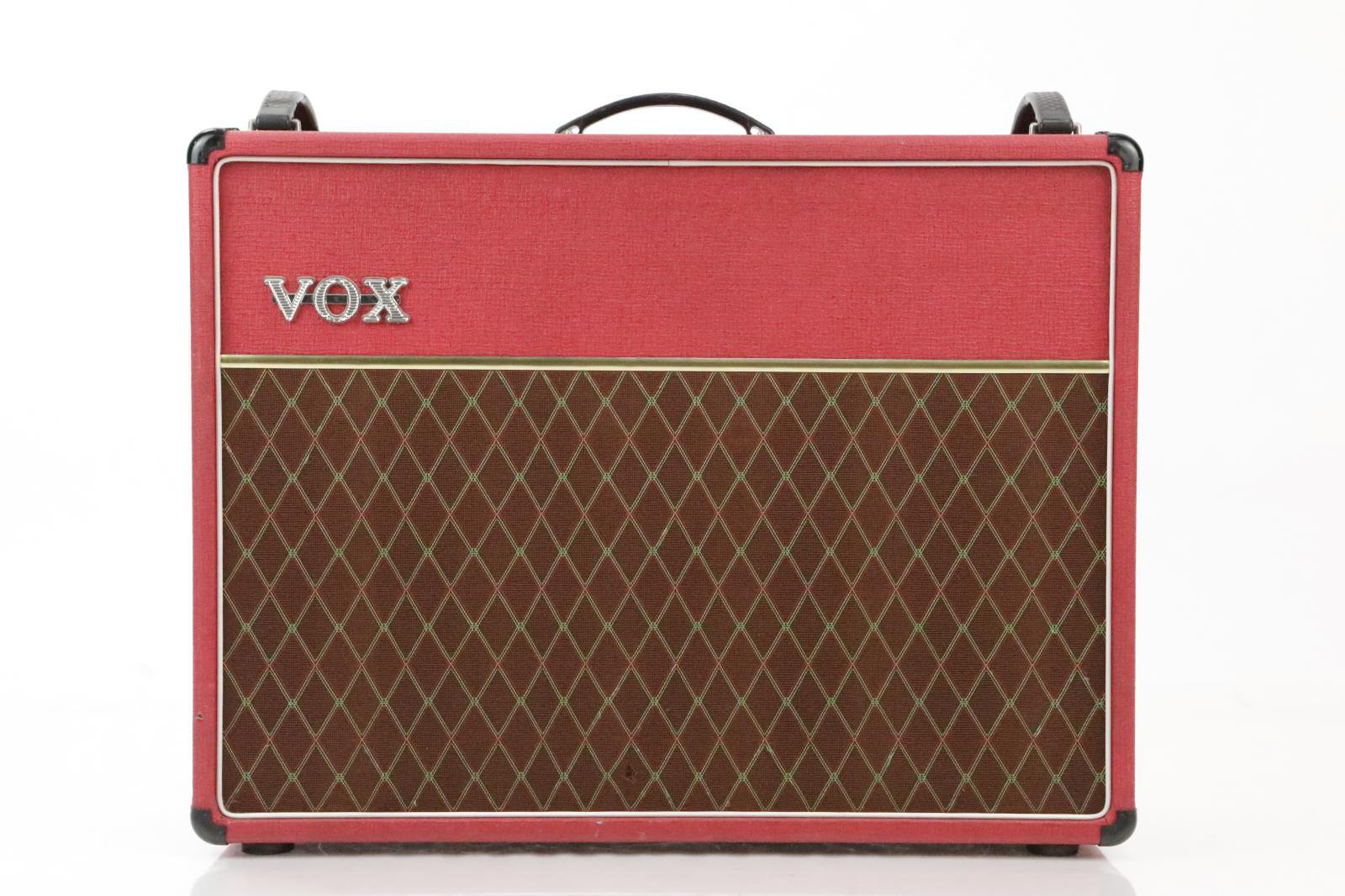 Vox AC30/6 TB Rare Red 2x12 Combo Guitar Tube Amp Bruce Kulick Kiss #34418