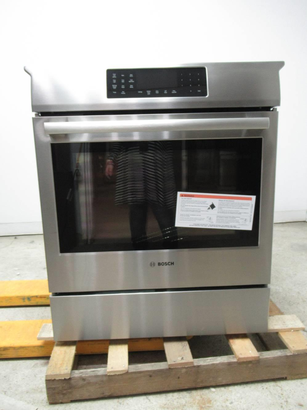"Bosch 800 DLX 30"" 4 Induction Elements Convection SS Slide ..."