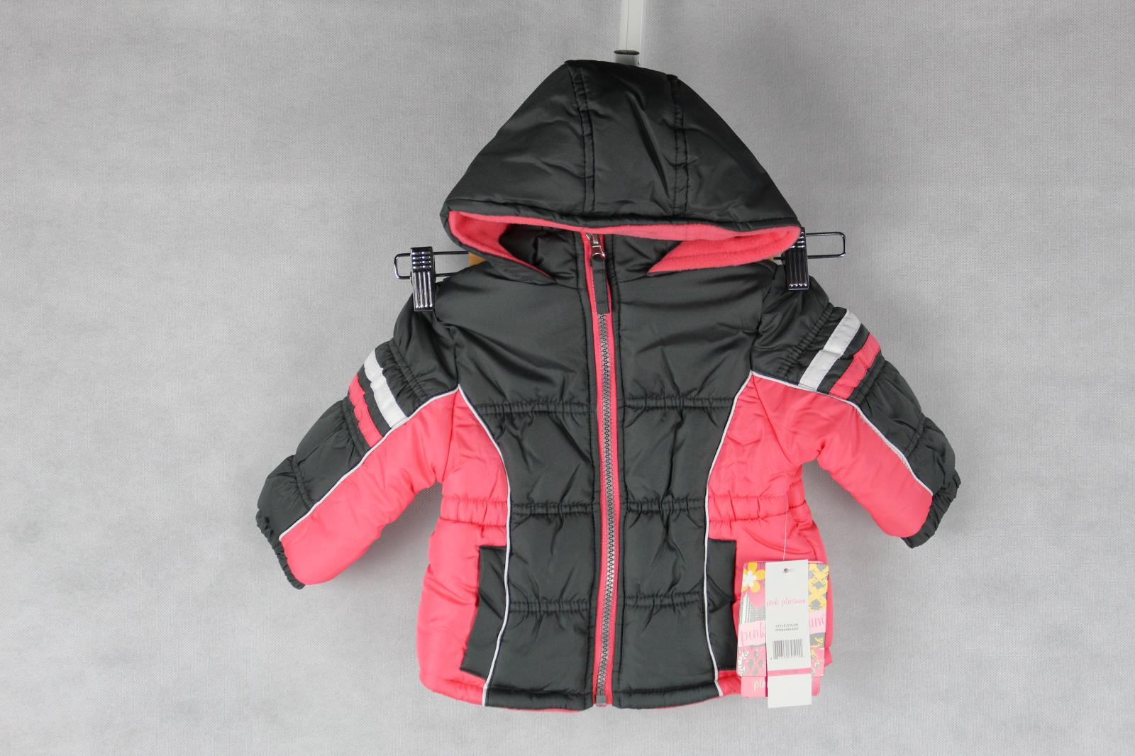 807059ba0c7 Details about Pink Platinum Girls' Colorblock Active Puffer Size 12 months