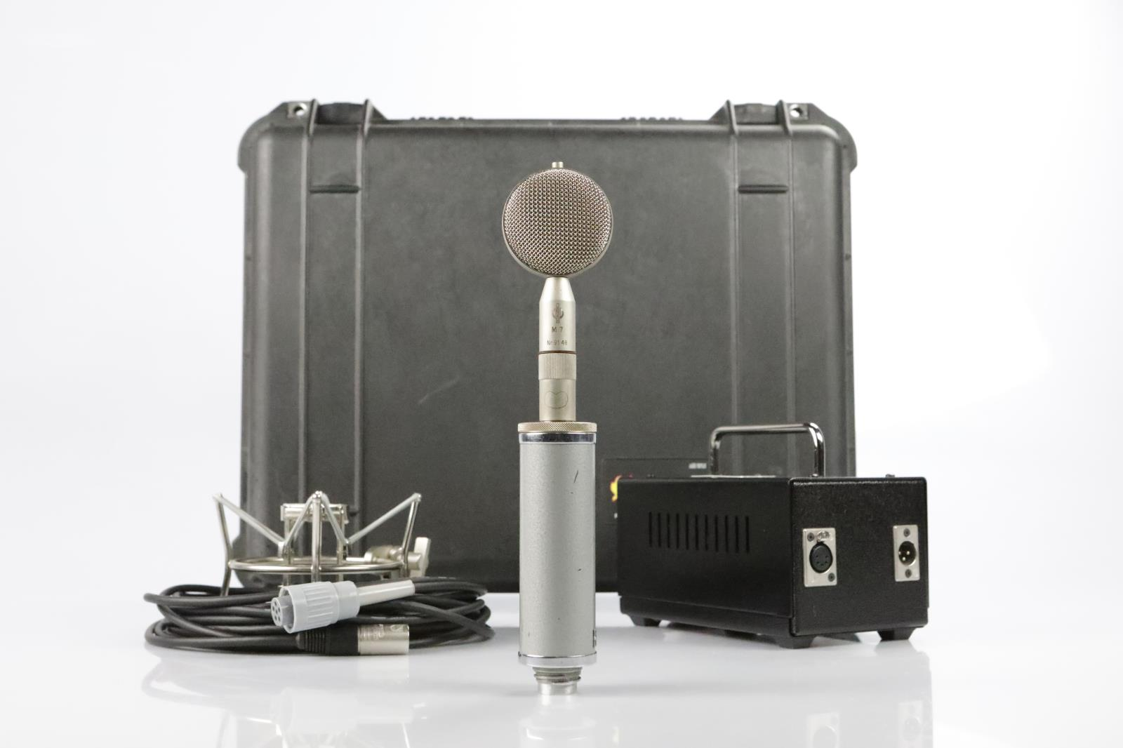 Neumann Gefell CMV-551 Microphone M7 Capsule Tube Mic w Pelican 1550 Case #34248