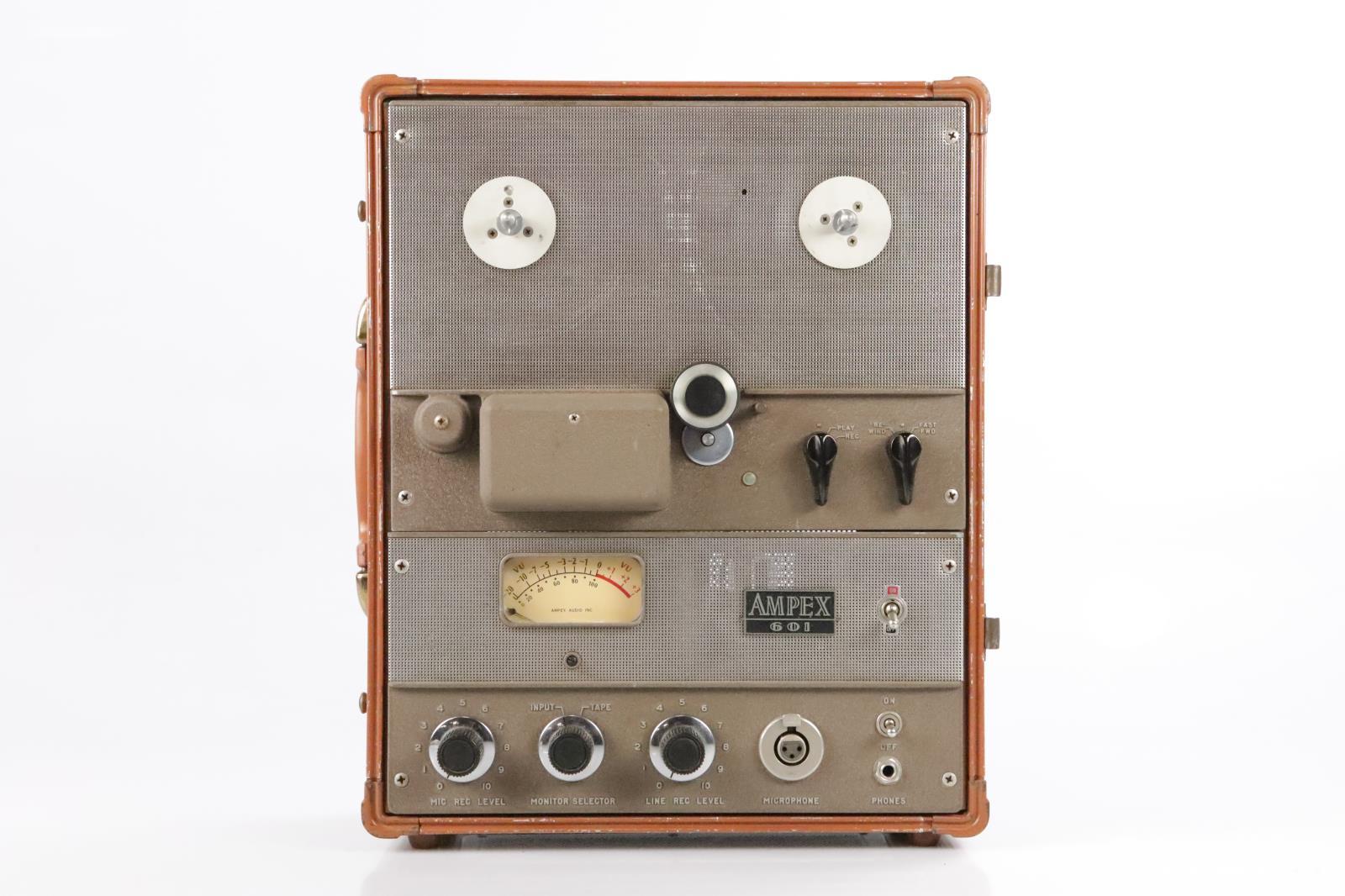 Ampex 601 Portable Analog Mono Reel to Reel Tube Tape Recorder Machine #34326