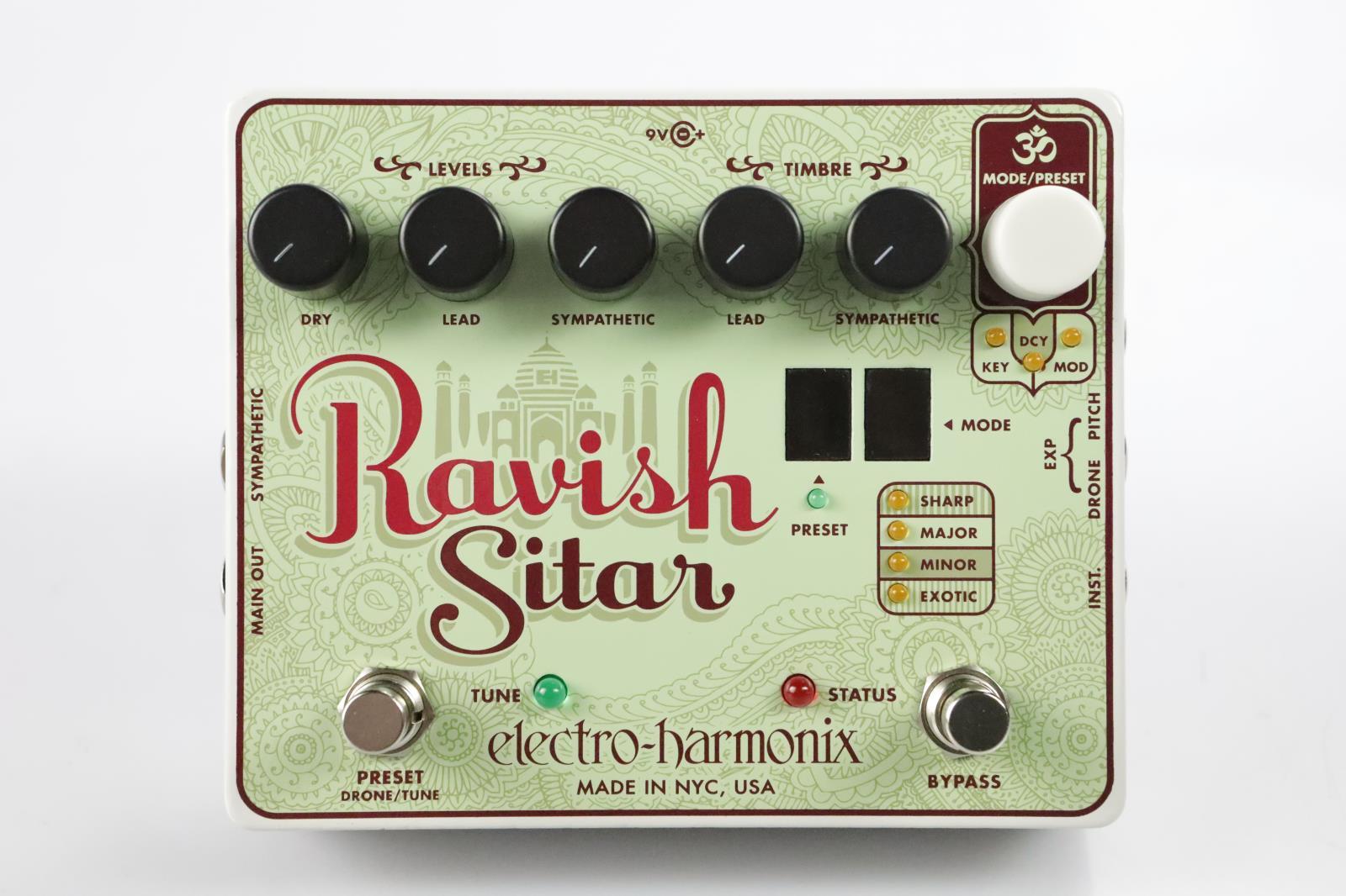 Electro Harmonix Ravish Sitar Guitar Pedal Signed Bruce Kulick Kiss #34410