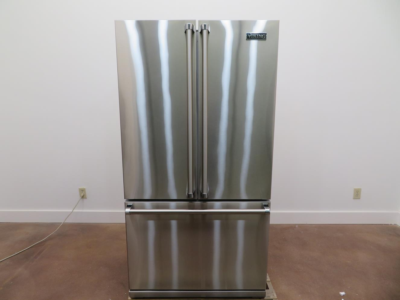 Details About Viking 3 Series 36 In Counter Depth French Door Refrigerator  RVRF336SS S. Steel