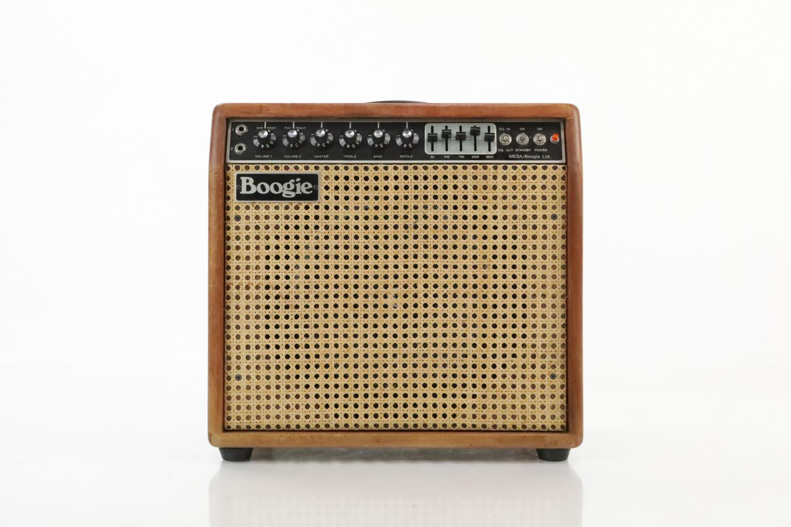 1977 Mesa Boogie Mark 1 Combo Amp w/ ATA Case Wicker Owned by Carlos Rios #33967