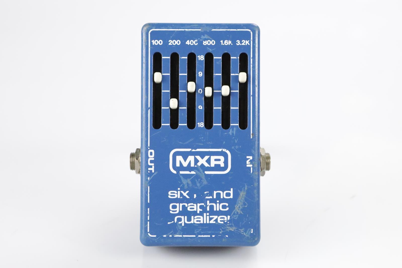 MXR Six Band Graphic Equalizer Pedal Blue Bruce Kulick Kiss #34405