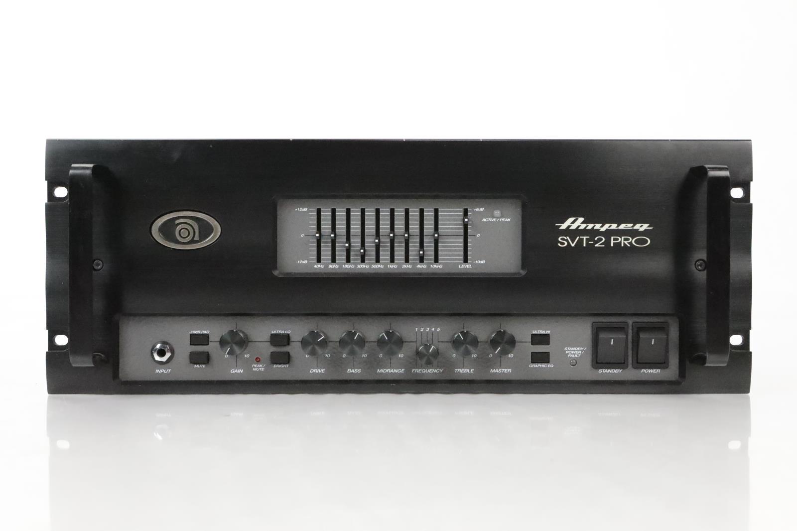 Ampeg SVT-2 PRO Tube Preamp Bass Amplifier Amp Head Kiss #34526