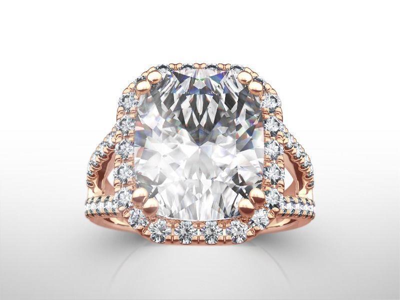 a91b4ba2fcb84 5.00 CT CUSHION CUT G/SI2 DIAMOND SOLITAIRE ENGAGEMENT RING 14K ROSE ...
