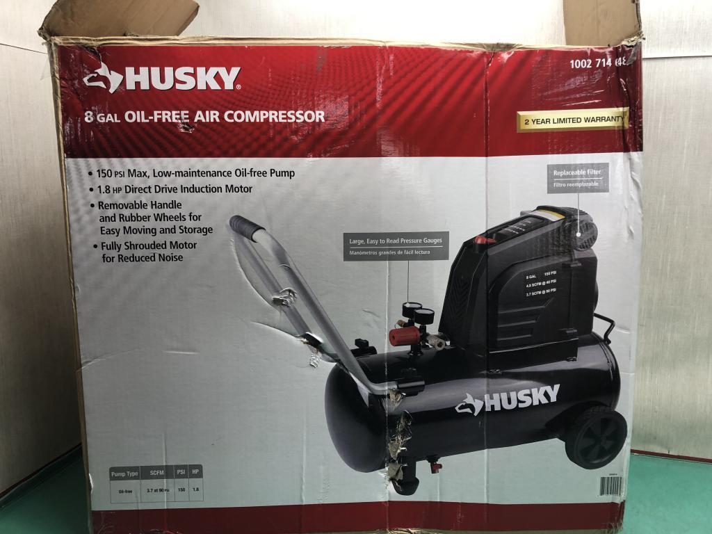 Handyman Husky 8 Gallon 150 Psi Hotdog Oil Free Air Manual Guide