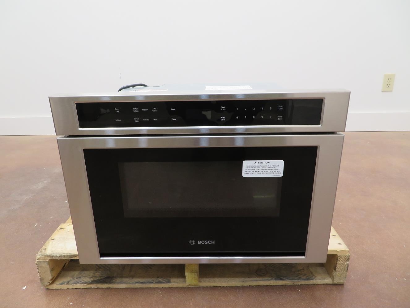Details About Bosch 800 Serie 24 Built In Microwave Drawer Hmd8451uc Touch Open Close S