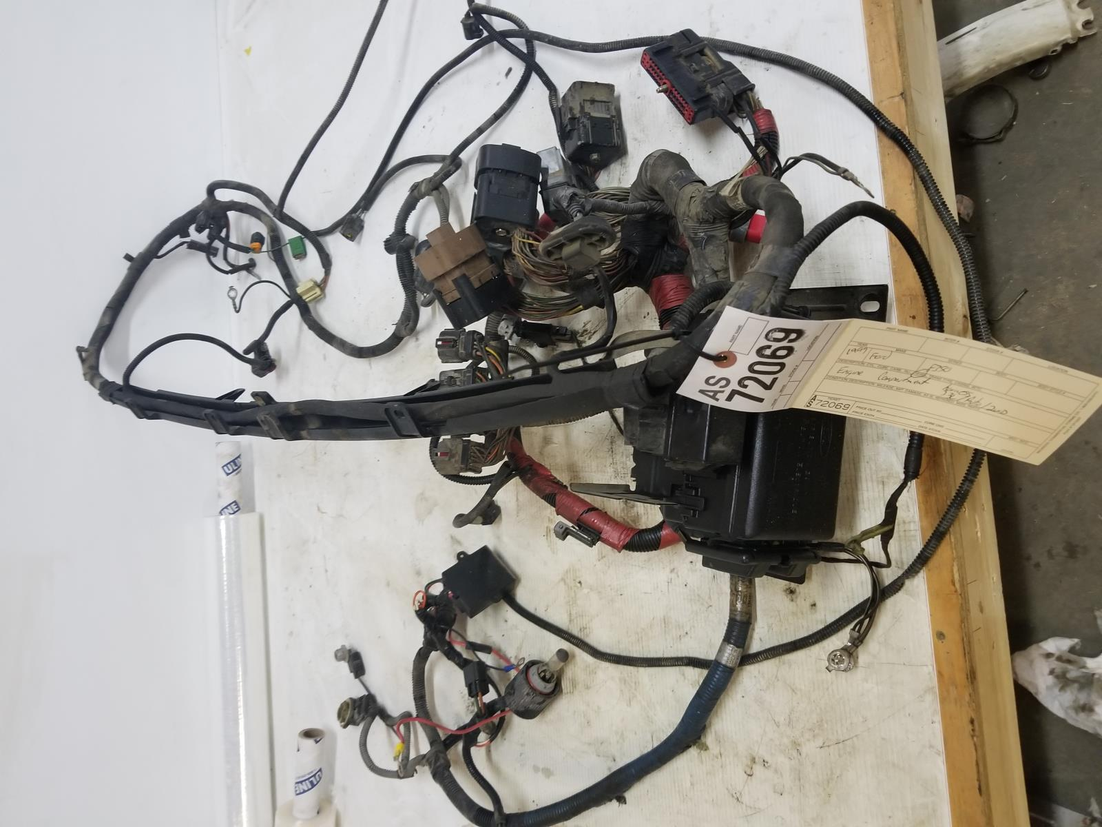 Details about 1999 Ford F250 F350 7.3L engine compartment wiring as72069 on