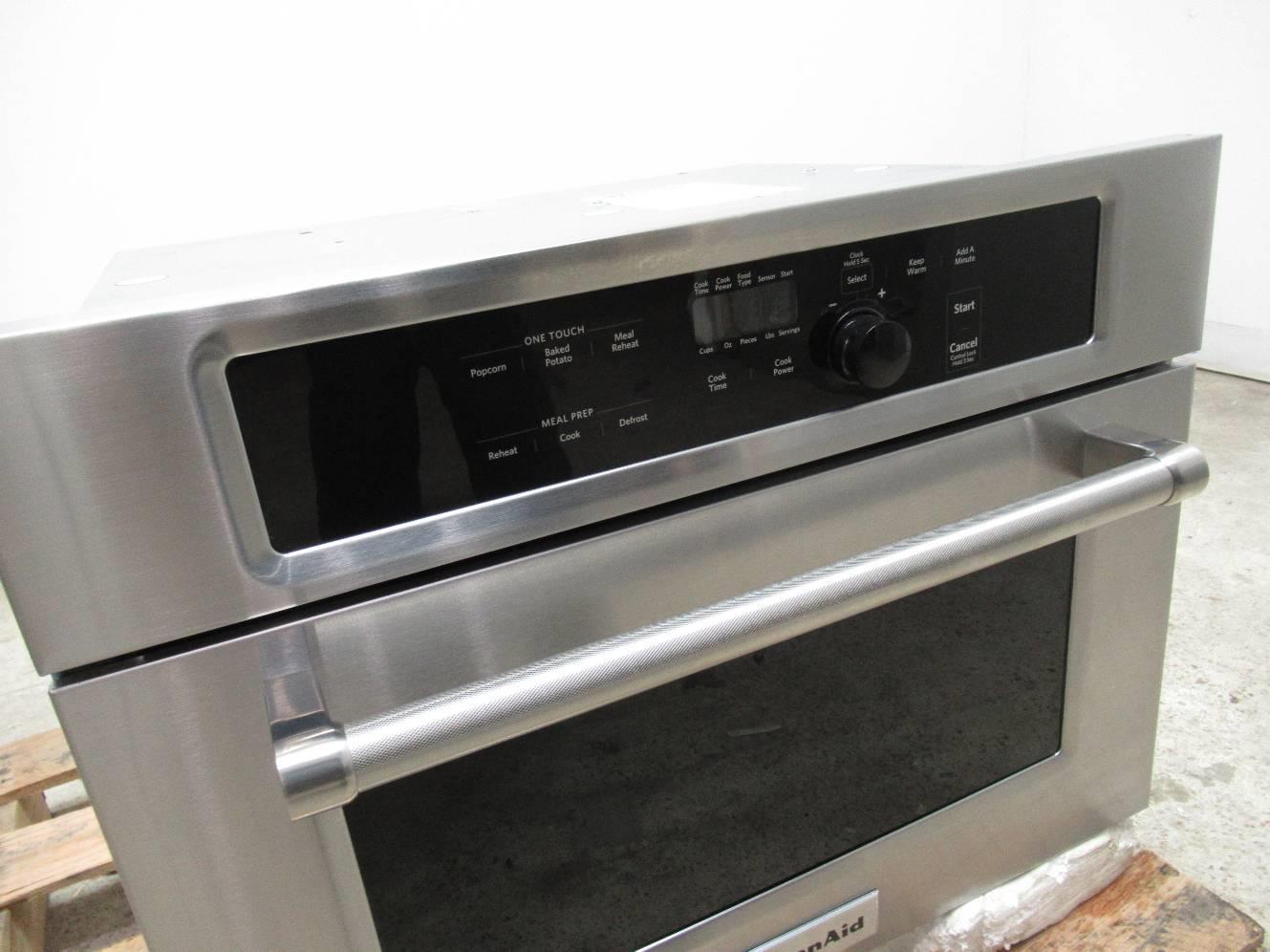 ... Kitchenaid 24 1000 Watt Stainless Steel Built In Microwave Oven Kmbs104ess ...
