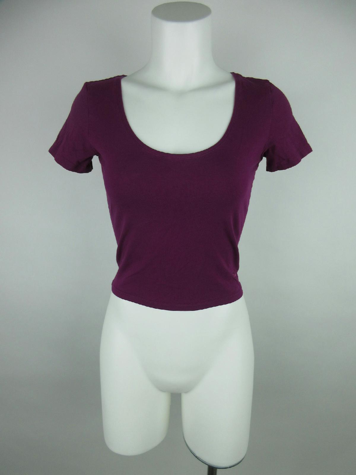 1154f9903517c Details about Pink Victoria's Secret Women S Cotton Heart-Cut Back Scoop  Neck Purple T-Shirt