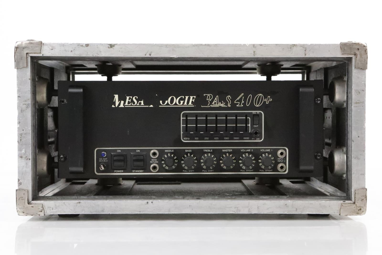 Mesa Boogie Bass 400+ Bass Amp w/ Mesa SUS-4 ATA Case Owned by Satyricon #35060