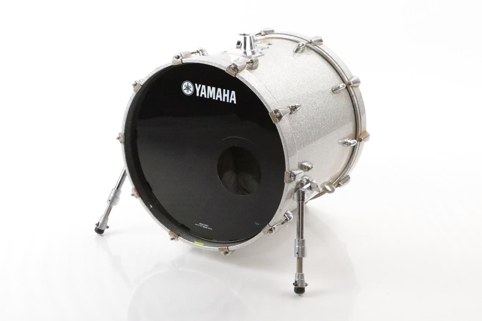 Yamaha 20x18 Oak Custom Kick Bass Drum MIJ Japan Silver Sparkle #35011