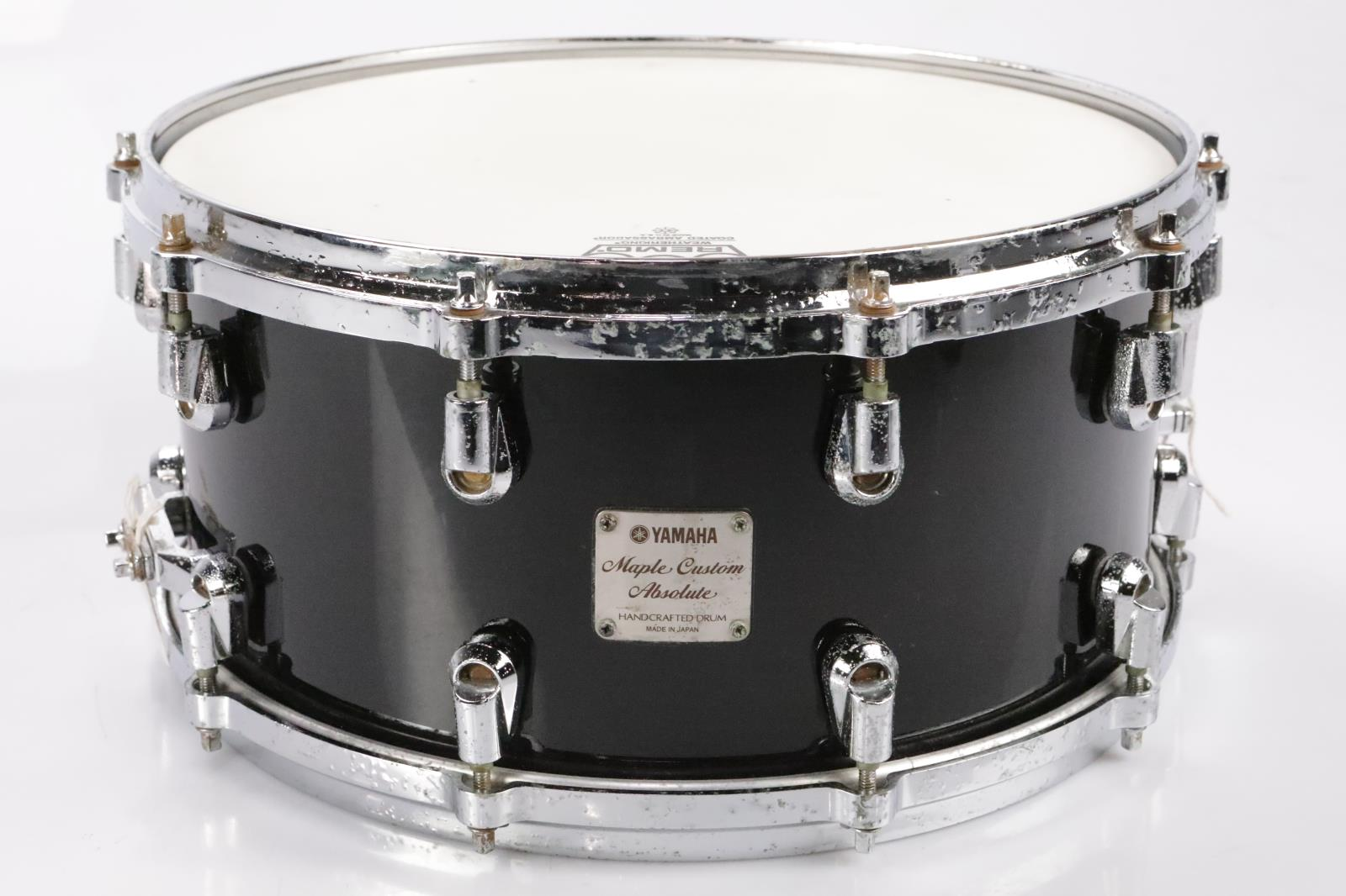 Yamaha 14x7 Maple Custom Absolute Snare Drum MIJ Japan Black #35014