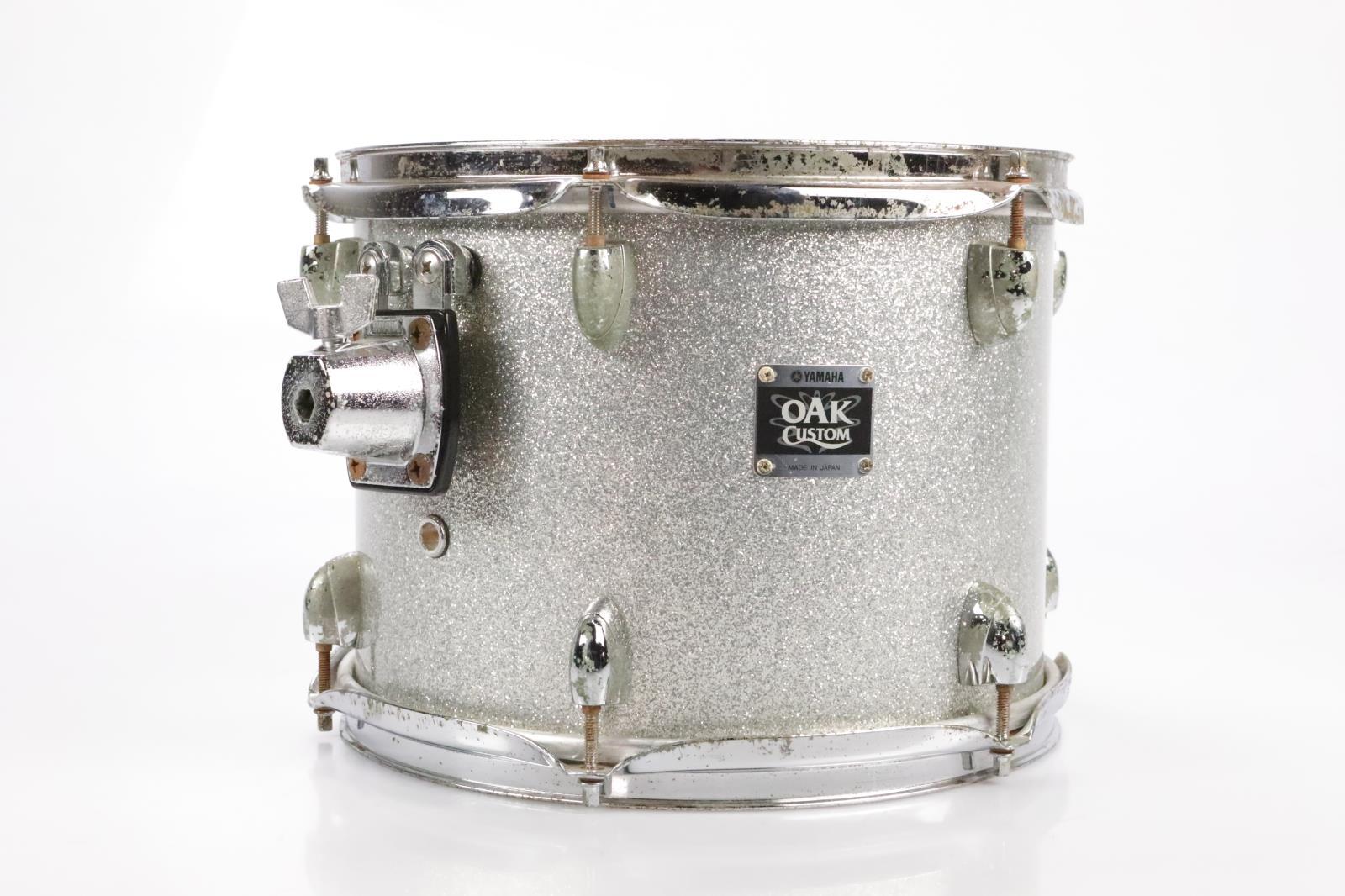 Yamaha 12x9 Oak Custom Rack Tom Drum Japan Silver Sparkle #35015