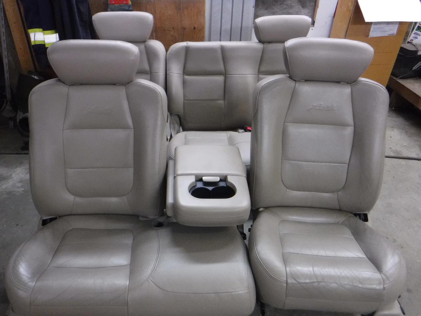 Phenomenal Details About 1998 2003 Ford F150 Lariat Tan Leather Seats Crew Cab Power Heat Free Ship Oem Pabps2019 Chair Design Images Pabps2019Com