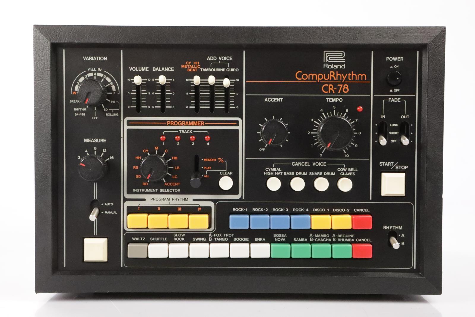 Roland CR-78 Compurhythm Drum Machine Compu Rhythm CR78 Beat Sequencer #34732
