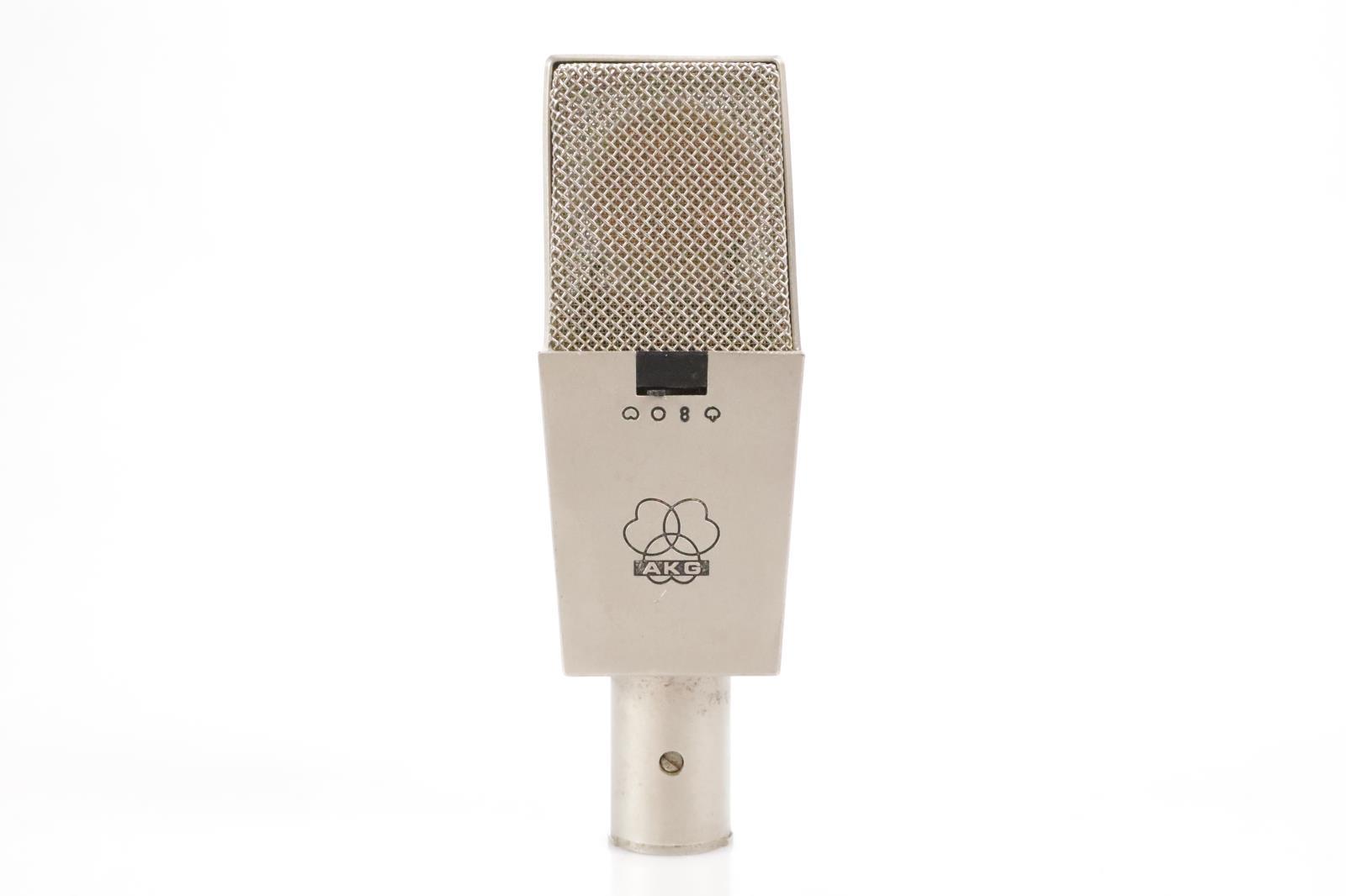 Vintage AKG C 414 EB Silver Condenser Microphone Nylon w/ Case Serviced #34795