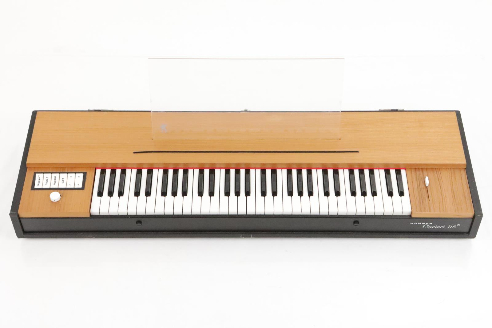 Hohner Clavinet D6 Keyboard w/ Gig Bag Lid Music Stand & Sustain Pedal #35239