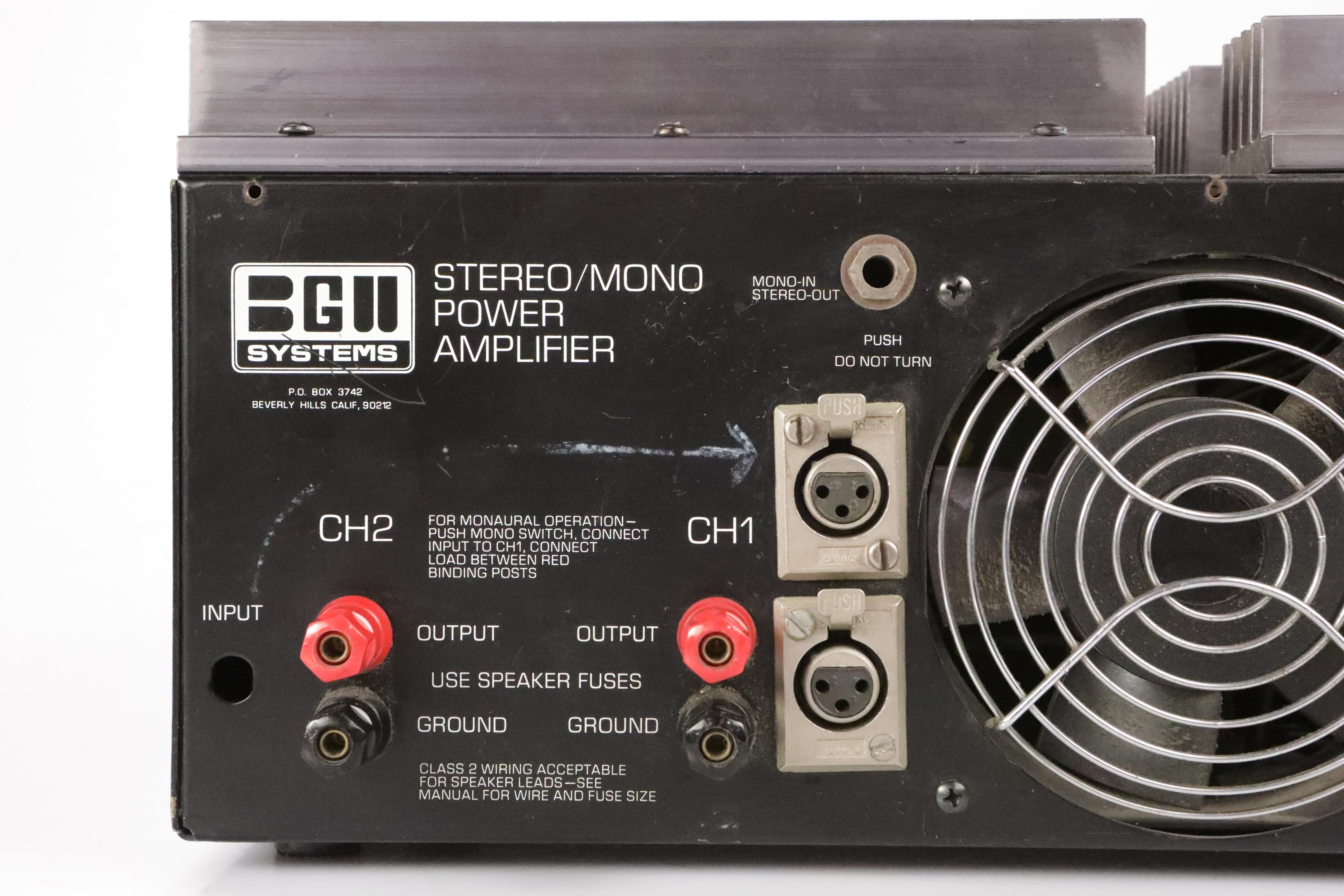 BGW Model 500D Stereo 500 Watt 4U Rack Power Amplifier #35211