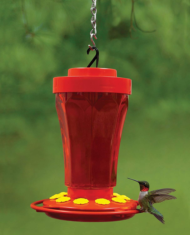 First Nature 3090 32 oz. Hummingbird Flower Feeder 10 Nector Feeding Ports USA | eBay