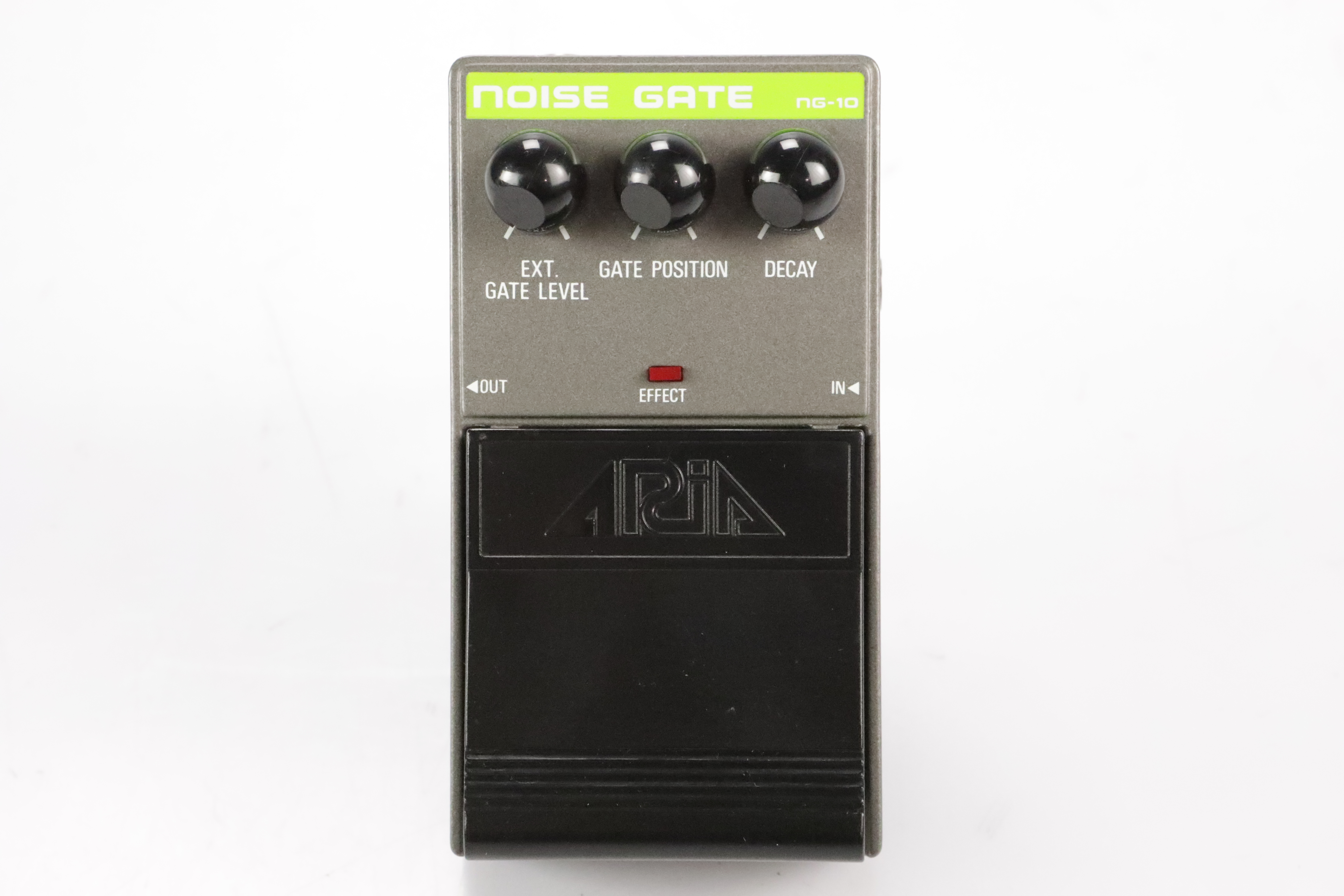 Aria Noise Gate NG-10 Guitar Effect Pedal w/ 2 Patch Cables NG10 #34696