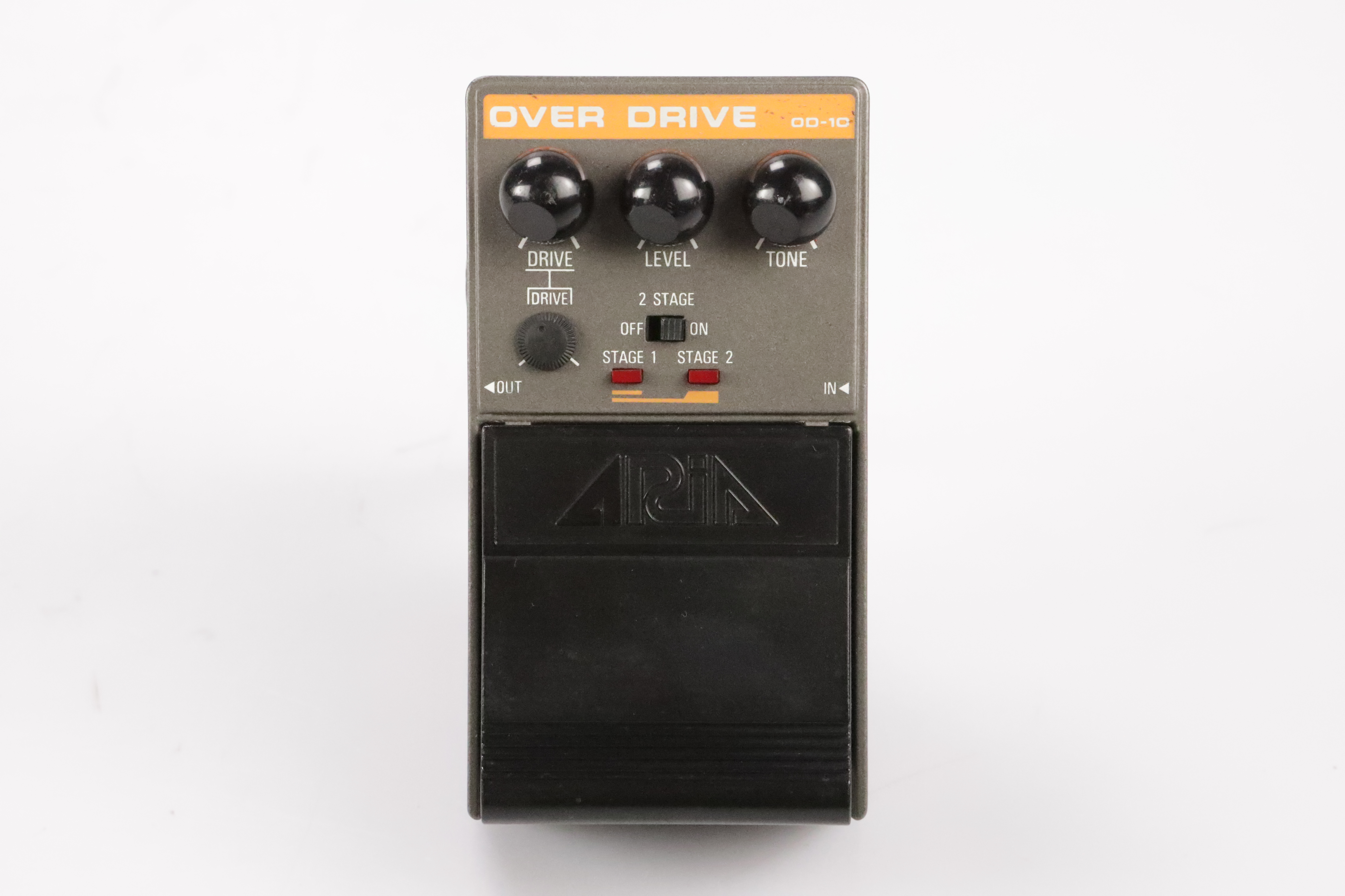 Aria OD-10 Over Drive Effect Pedal w/ 2 Patch Cables OD10 MIJ Japan #34708