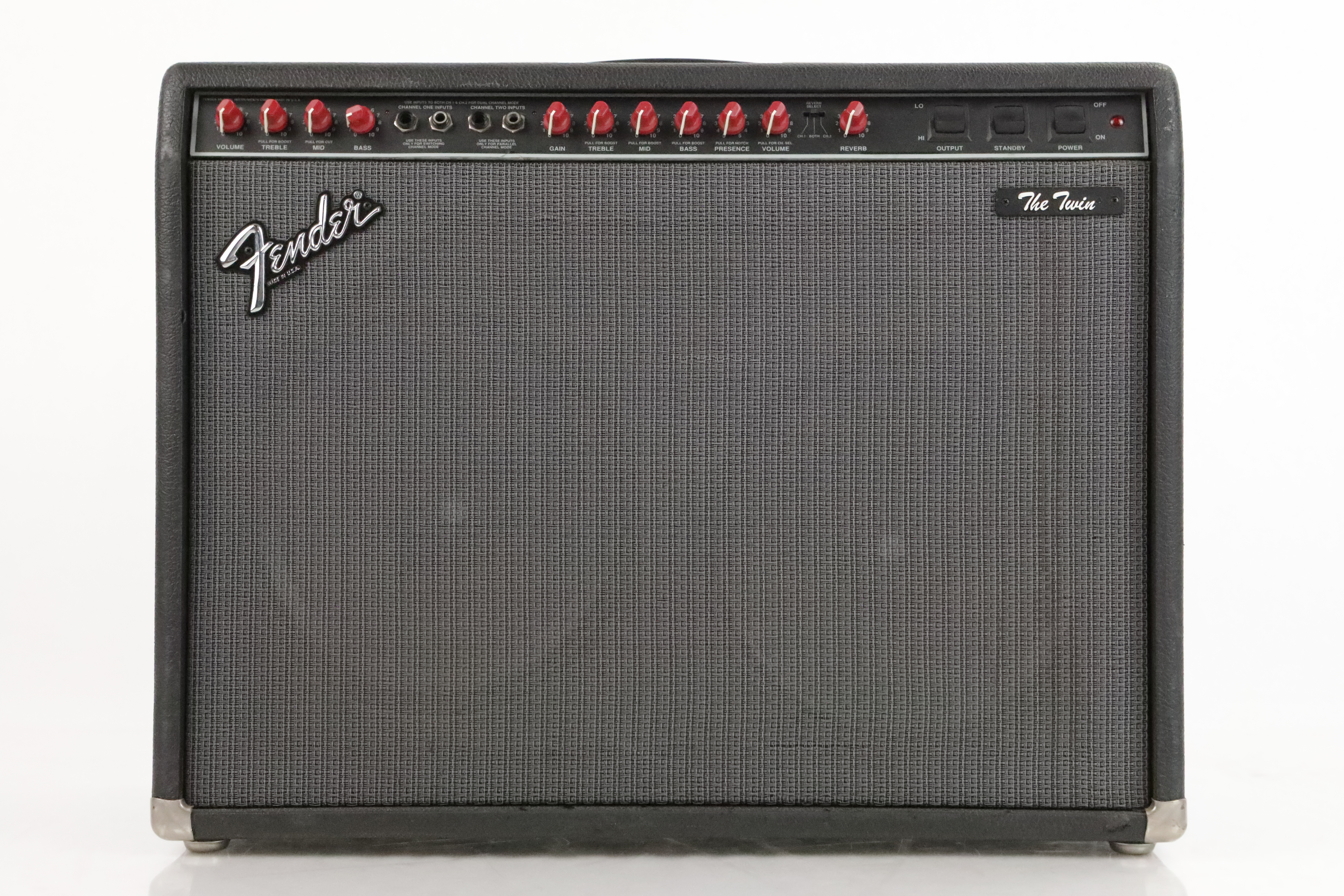 Fender The Twin Red Knob Tube Combo 2x12 Guitar Amplifier w/ Footswitch #35013