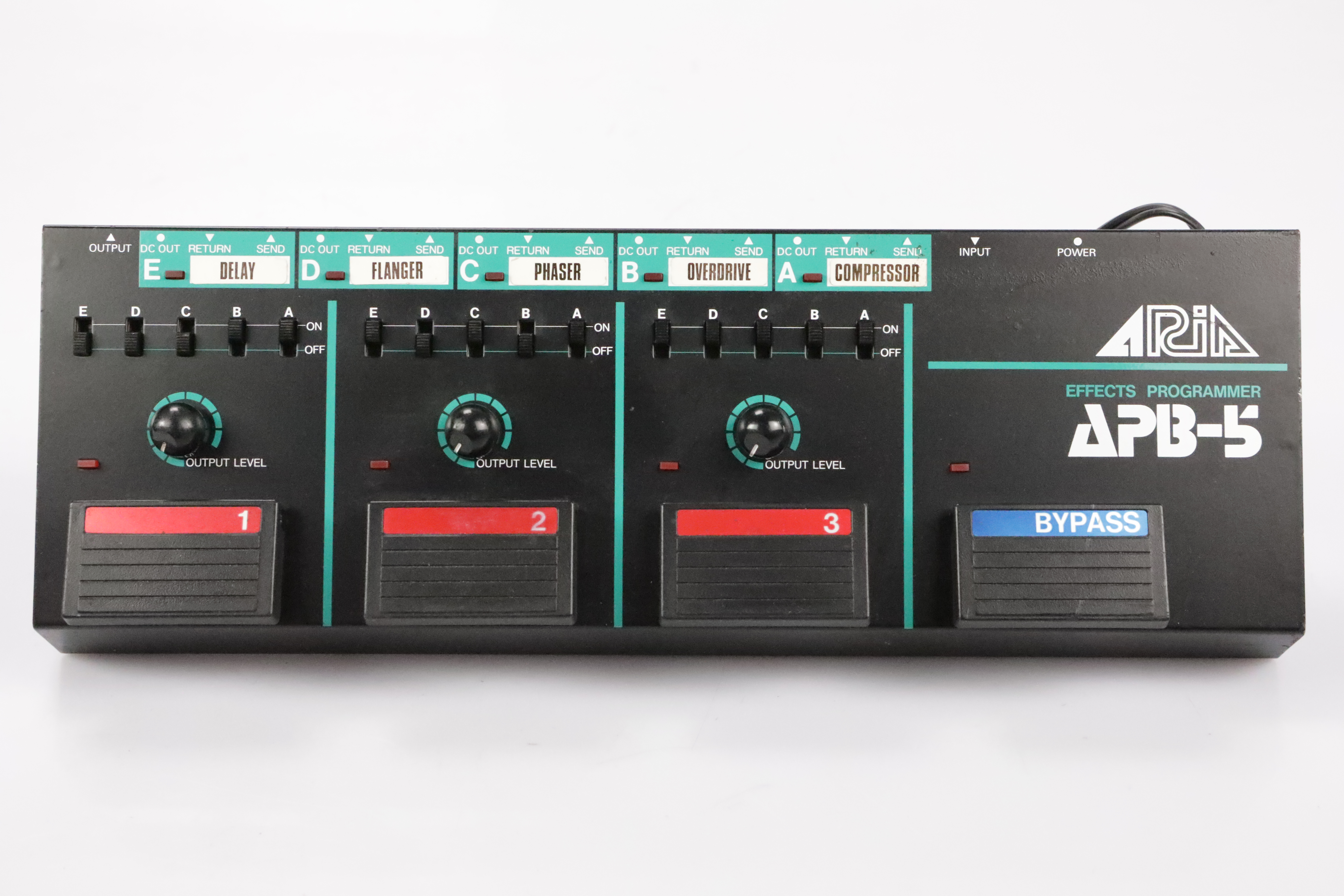 Aria APB-5 Guitar Effects Programmer w/ 3 Patch & 5 Power Cables APB5 #34712