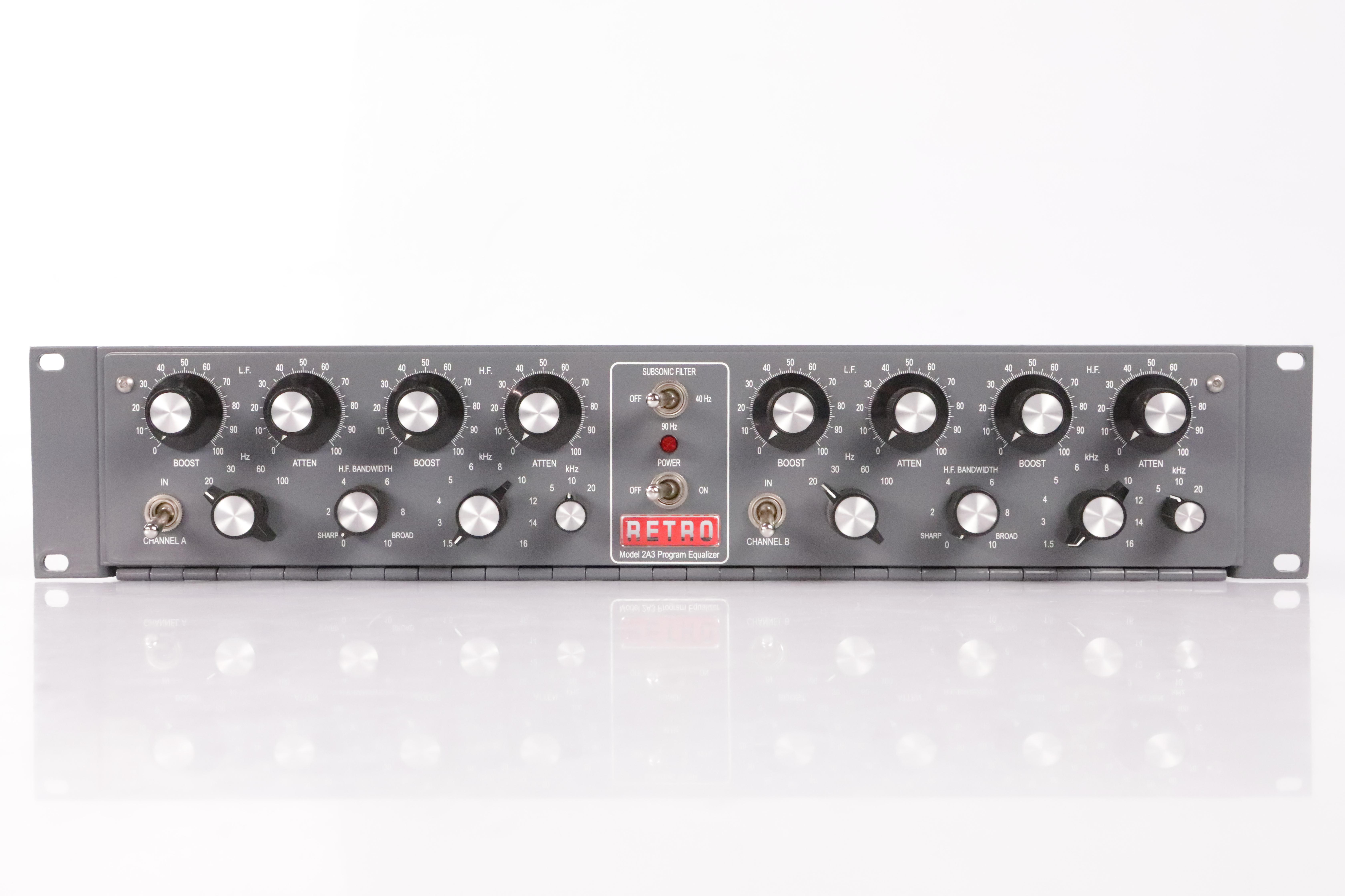 Retro Instruments 2A3 Dual Program EQ Tube Stereo 2-Channel Equalizer #34947