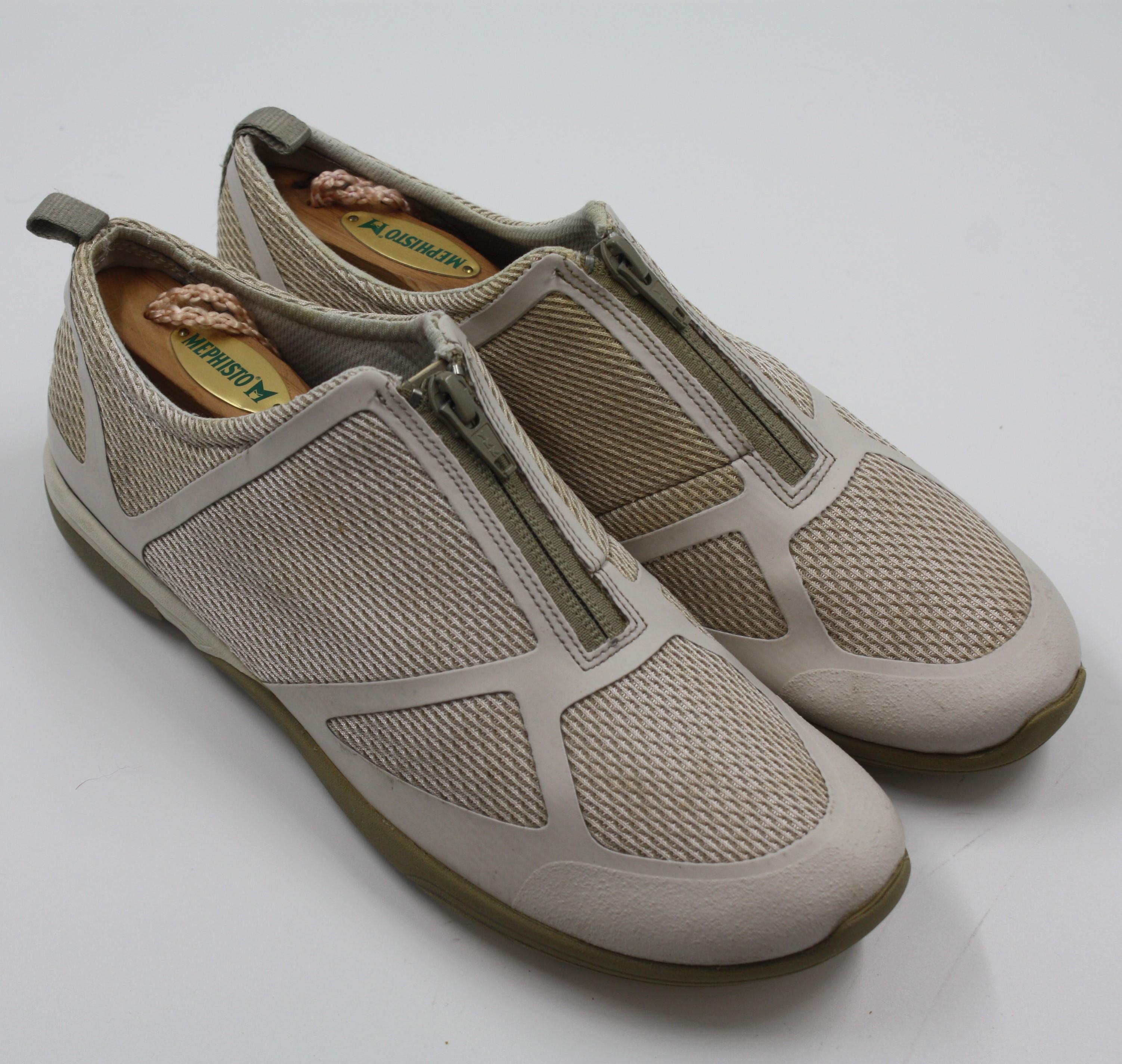 02808e4858f8 Merrell Womens Ladies Taupe Zipper Slip On Flats Shoes Size 8M