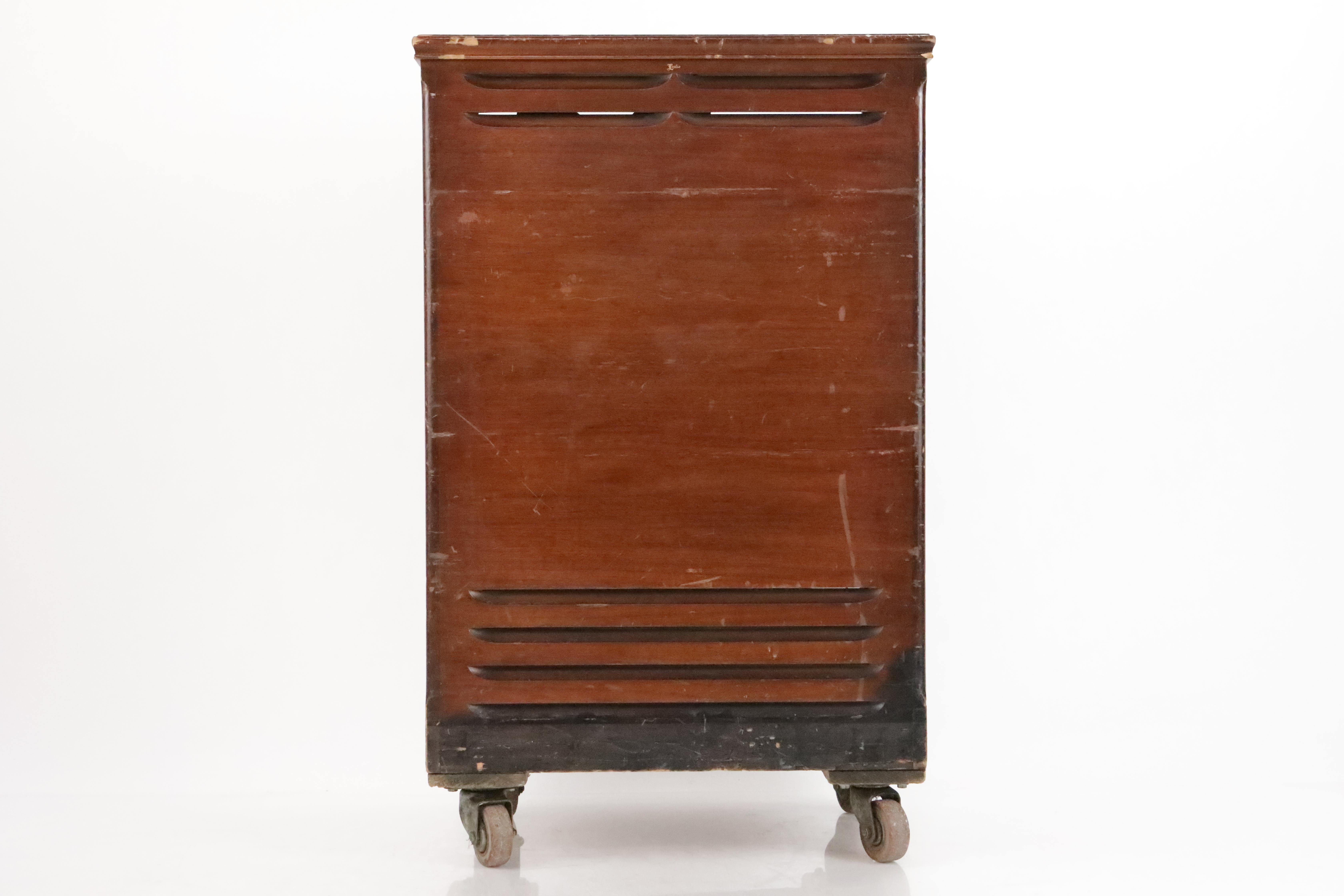 Leslie Model 122 Rotating Speaker Cabinet Cab Organ Amplifier w/ Casters #34786