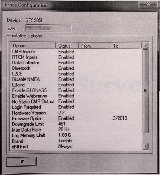 Trimble SPS985L L2CS GPS GLONASS 900 MHz Base & Rover Set SPS-985
