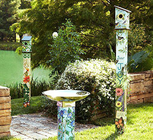 Studio M Gather Peaceful Day Birdbath With Art Pole Mailbb1011 Home & Garden