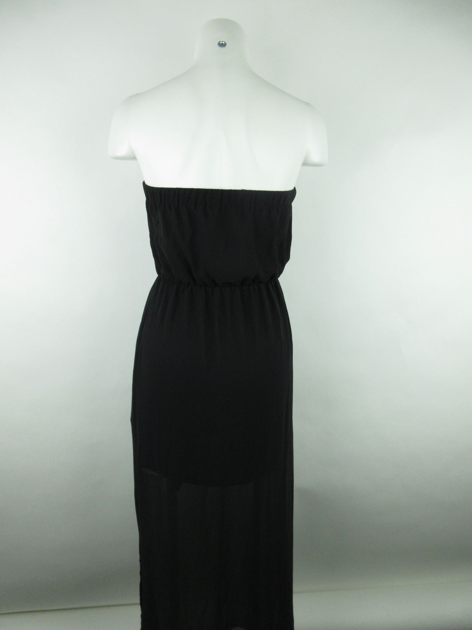 39b818701a986 H&M Divided Women's sz 4 Black Polyester Layered Strapless Sheer ...