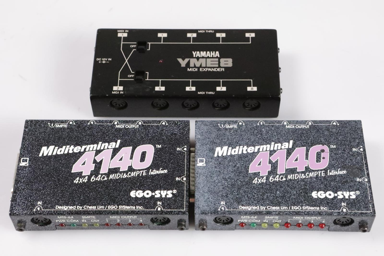 Yamaha YME8 MIDI Expander & 2 EGO-SYS Miditerminal 4140 4x4 w/ Cables #35557