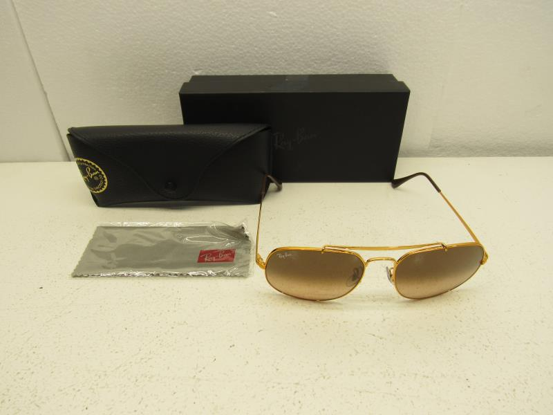 ad5cf864f2d Ray-Ban RB3561 9001 A5 Matte Gold   Brown Gradient Lens Sunglasses ...