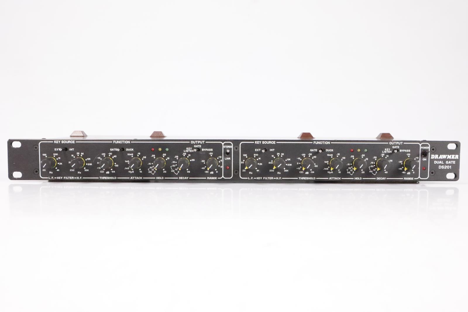 Drawmer DS 201 Noise Gate & Ducker 2 Channel Dual Rack Mount DS201B DS201 #35636