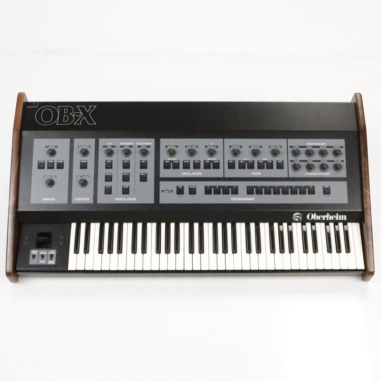 Détails sur Oberheim OB-X analogique 8 Synthétiseur vocal avec encore Midi  & Filtre 24db mod #35984- afficher le titre d'origine