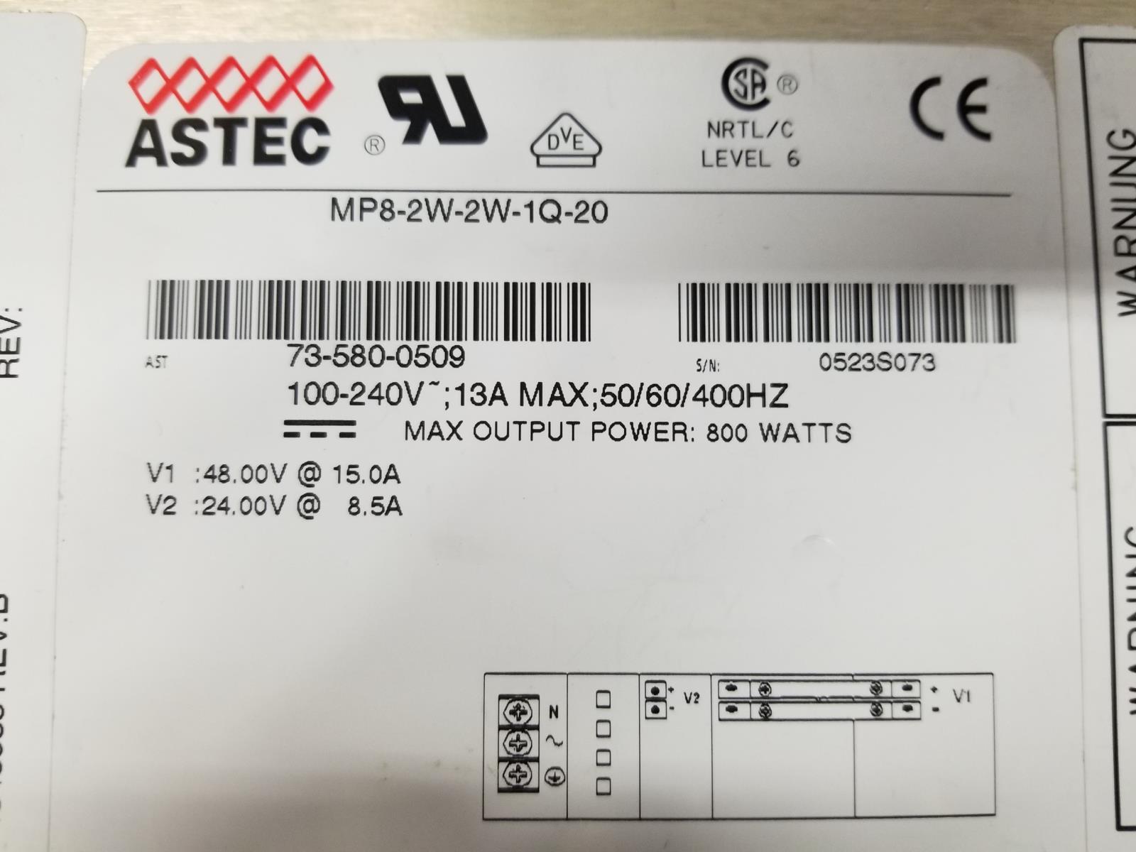 Astec MP8-2W-2W-1Q-20 800W Power Supply