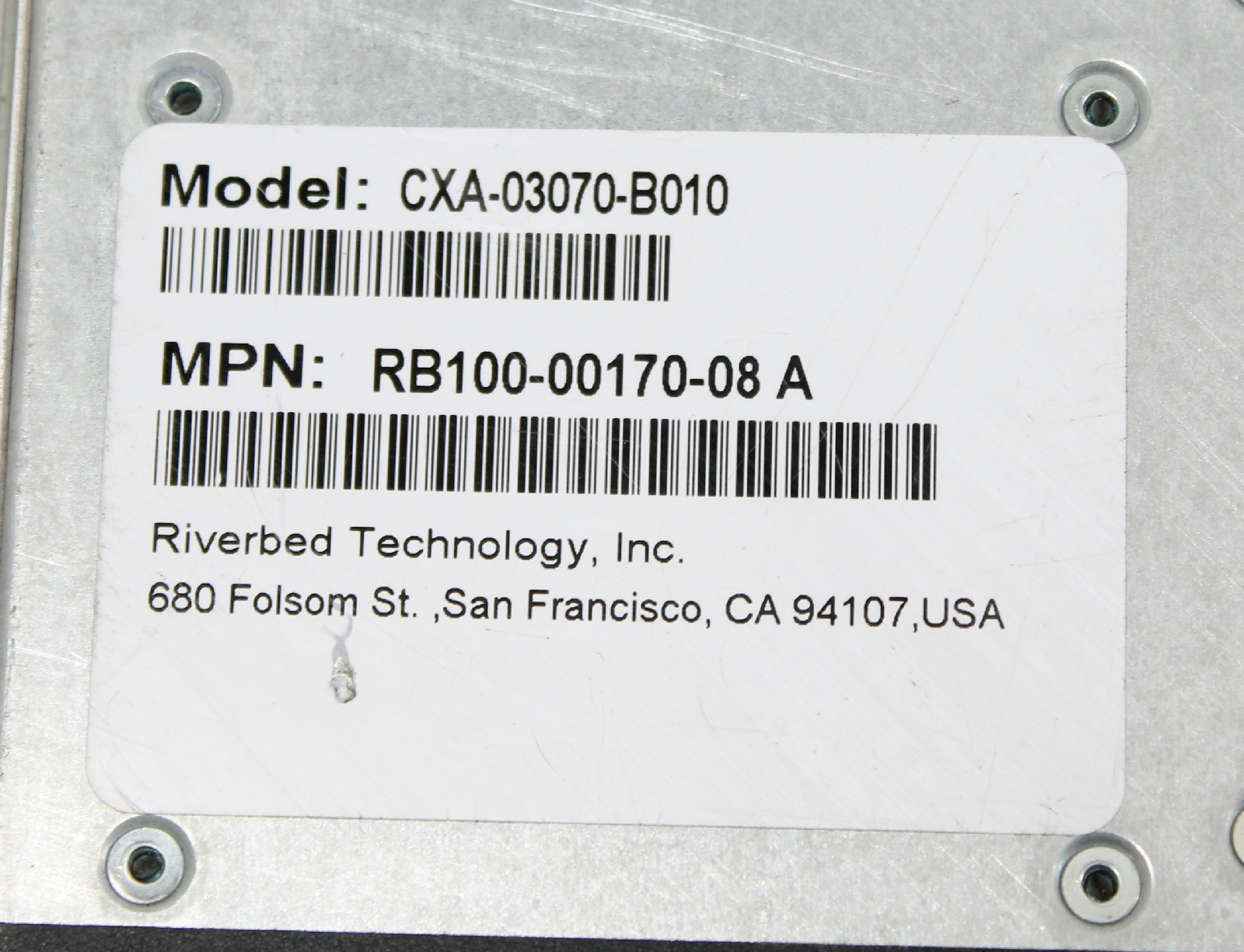 Riverbed SteelHead CX3070 Application Accelerator / M License /  CXA-03070-B010