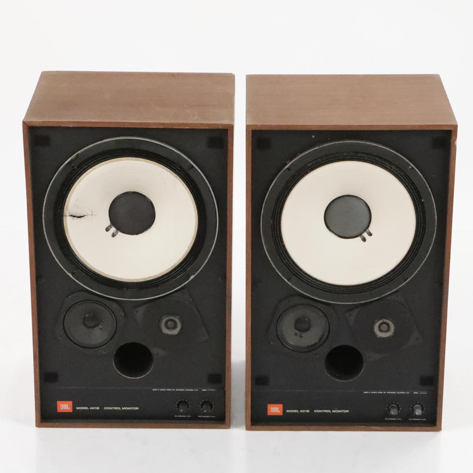 """JBL 4311B Control Studio Monitors White Cone 10"""" Passive Speakers #36283"""