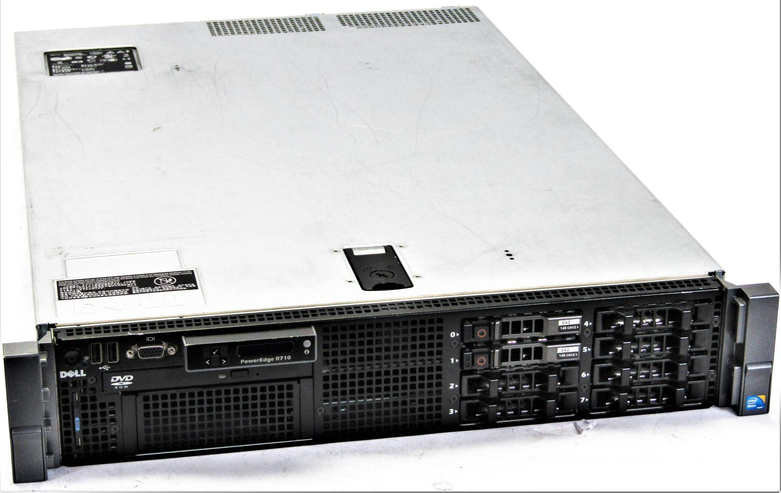 Details about Dell PowerEdge R710 Server - 2U | 2x 2 67GHz X5650 Xeon |  48gb DDR3 | DVD-ROM